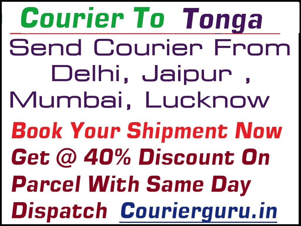 Courier Charges To Tonga From Delhi